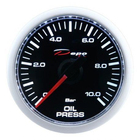 DEPO Night Glow 52mm Ceas indicator presiune ulei DEPO Racing - Seria Night glow | race-shop.ro