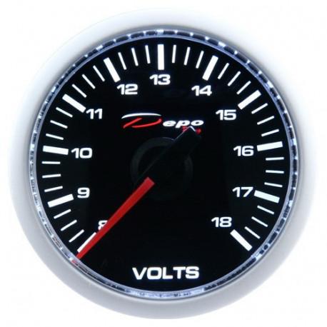 DEPO Night Glow 52mm Ceas indicator încărcare baterie DEPO Racing (Volt) - Seria Night glow | race-shop.ro