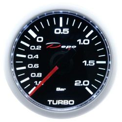 Ceas indicator mecanic presiune turbo DEPO Racing - Seria Night glow
