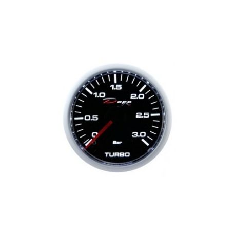 DEPO Night Glow 52mm Ceas indicator presiune turbo DEPO Racing diesel - Seria Night glow 3BAR   race-shop.ro