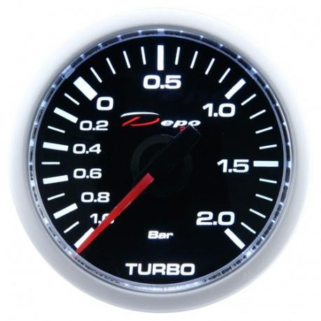 DEPO Night Glow 52mm Ceas indicator presiune turbo DEPO Racing electric - Seria Night glow 2BAR   race-shop.ro