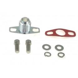 Flanșă adaptor retur ulei AN10 pentru GT25R, GT28R, GT30R, GT35R