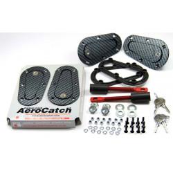 Siguranțe capotă aerodinamice Aerocatch, cu închidere, carbon look