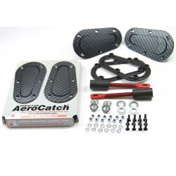 Siguranțe capotă aerodinamice Aerocatch, carbon look