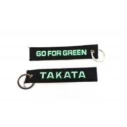 Breloc Takata go for green negru