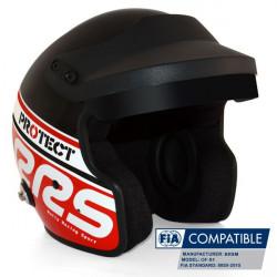 Cască RRS Protect JET FIA 8859-2015, Hans, roșu