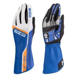 Mănuși Track KG-3 (cusătură interior) albastru/alb