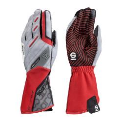 Mănuși Motion KG-5 (cusătură exterior) alb/roșu