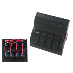 Panou rezistent la apă cu 4 Comutatori Carling Rocker (IP68)