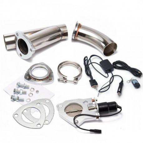 Clapete evacuare Clapetă evacuare electrică V-band cu telecomandă și întrerupator | race-shop.ro