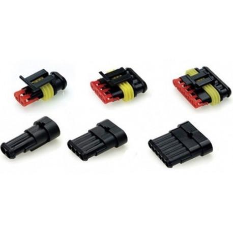 Cabluri, conectori și terminale Conector rezistent la apă 2 sau 6 pin | race-shop.ro