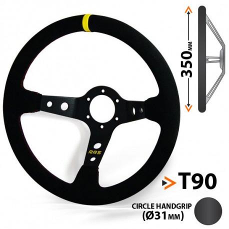 Volane 3 ramenný volant RACES Corsa, 350mm, semiš, 90mm odsadenie | race-shop.ro