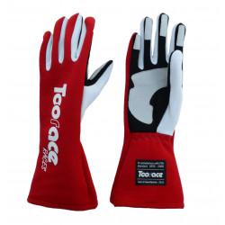 Mănuși RACES TRST2 FIA omologare (cusătură interior) roșu