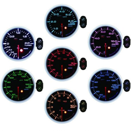 DEPO PK 52mm, 7 Culori Ceas indicator programabil presiune turbo DEPO Racing electric -1 - 2 BARI, 7 culori | race-shop.ro