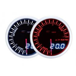 Ceas indicator raport aer-combustibil DEPO Racing - Seria Dual view