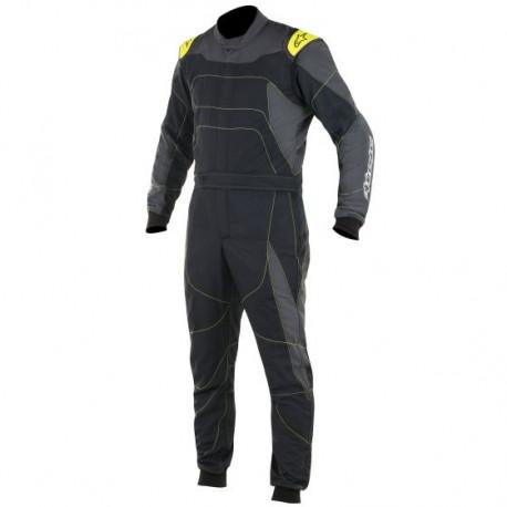 Combinezoane Combinezon FIA ALPINESTARS GP Race Black/Grey/Yellow | race-shop.ro