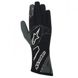 Mănuși Alpinestars Tech 1 K fără omologare FIA - negru-alb-antracit