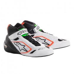 Încălțăminte curse ALPINESTARS Tech-1 KZ - White/Black/Orange