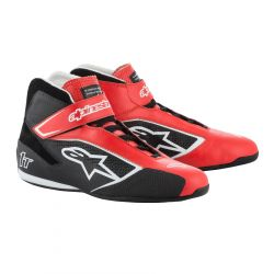 Încălțăminte curse ALPINESTARS FIA Tech 1 T - Red/Black/White