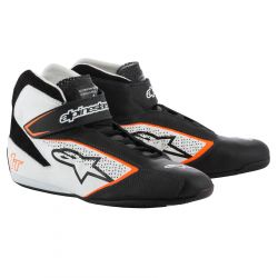 Încălțăminte curse ALPINESTARS FIA Tech 1 T - Black/White/Orange