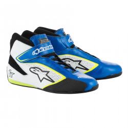 Încălțăminte curse ALPINESTARS FIA Tech 1 T - Blue/White/Yellow