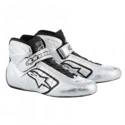 Încălțăminte curse ALPINESTARS FIA Tech 1-Z - Silver/Black