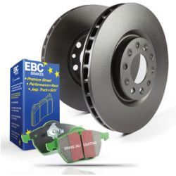 Set față EBC PD01KF288 - Discuri Premium OE + Plăcuțe Greenstuff