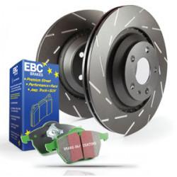 Set spate EBC PD06KR073 - Discuri Ultimax Grooved + Plăcuțe Greenstuff