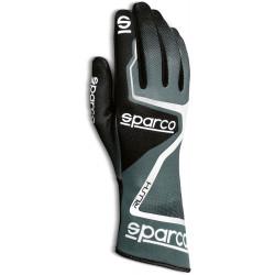 Mănuși Sparco Rush (cusătură interior) negru/ alb