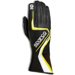 Mănuși Sparco Record (cusătură exterior) negru/galben