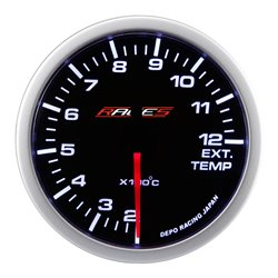 Ceas indicator RACES Clubman - Temperatură gaze