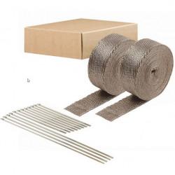 Kit bandă termoizolantă evacuare DEI - 2buc 5cm x 15m - Titanium+ coliere