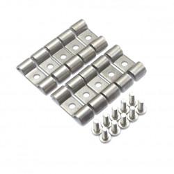 Suport dublu din oțel inoxidabil pentru furtun / țeavă