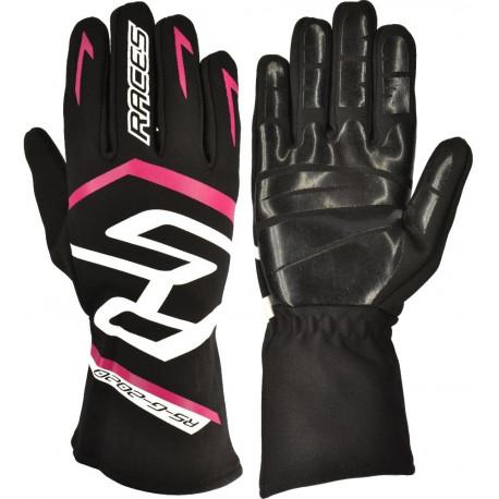 Promoții Mănuși RACES Premium EVO II Silicone, Pink | race-shop.ro