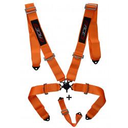 """Centură de siguranță 5 puncte RACES 3"""" (76mm), portocaliu"""