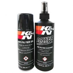Set de curățare și întreținere K&N pentru filtru de aer sport.