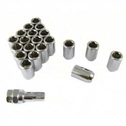 Set 20buc piulițe oțel imbus + cheie M12x1,25