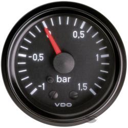 Ceas indicator VDO presiune turbo mecanic (-1 - 1,5 BARI) - Seria cockpit Vision