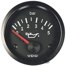 Ceas indicator VDO Presiune ulei (0 -5 BARI) - Seria Cocpit Vision