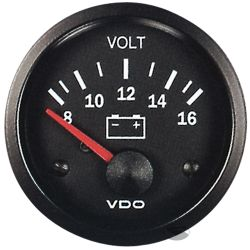 Ceas indicator VDO încărcare (Volt) - Seria Cocpit Vision