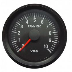 Ceas indicator VDO RPM 80mm - 10000 rot/min - Seria cockpit Vision