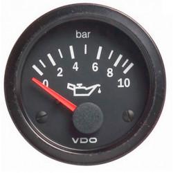 Ceas indicator VDO Presiune ulei (0 -10 BARI) - Seria cockpit Vision