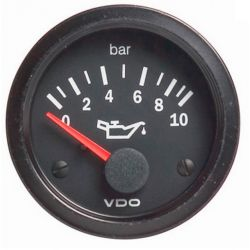 Ceas indicator VDO Presiune ulei (0 -10 BARI) - Seria Cocpit Vision