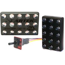 Iluminație LED FIA 90x56mm 15 LED cu buton (3 module)