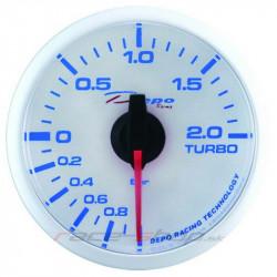 Ceas indicator presiune turbo DEPO Racing electric - Seria Super White