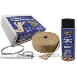 Thermotec set: 2x bandă adezivă + spray impregnant + coliere inox